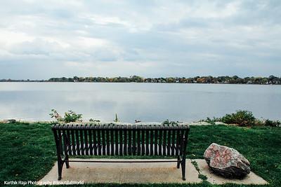 Bench, Brittingham Park, Lake Monona, Madison