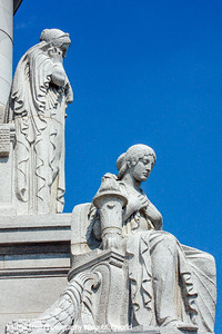 Faith by Karl Bitter, statues on the outside of the Capitol building, Madison, Wisconsin