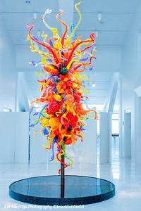 Glass sculpture, Milwaukee Art Museum, Wisconsin