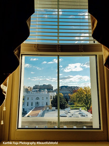 View from a window, White House West Wing, Eisenhower Executive Office Building, Washington DC