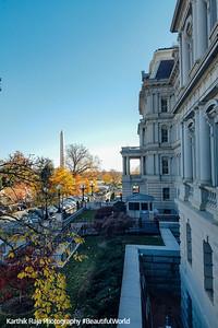 Washington Monument, Eisenhower Executive Office Building, White House, Washington DC