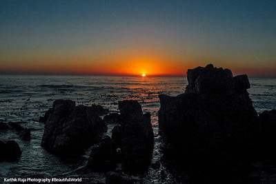 Sunset from 17 mile drive, Monterey