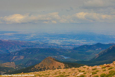 Reservoir views, Pikes Peak, Colorado Springs, Colorado