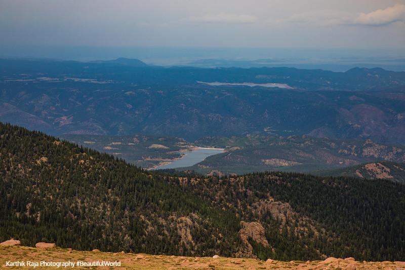 Reservoir views, Pikes Peak, Colorado Springs, Colorado