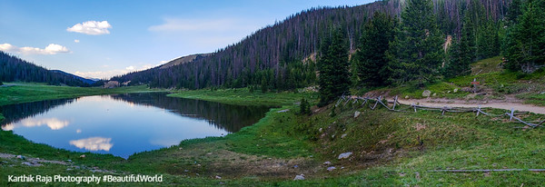 Poudre Lake, Milner Pass, Continental Divide, Rocky Mountain National Park, Colorado