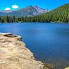 Half Mountain and Longs Peak, Bear Lake, Rocky Mountain National Park, Colorado