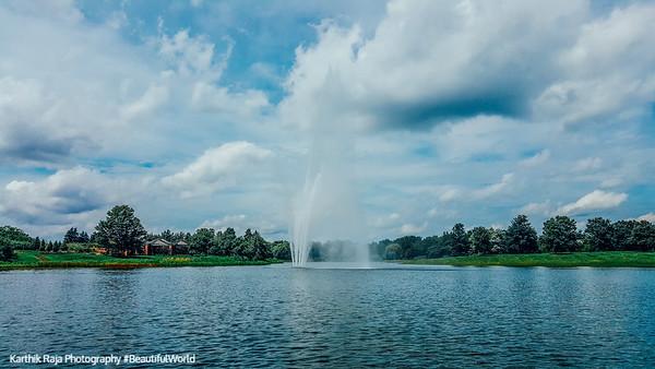 Fountain, Chicago Botanic Garden, Chicago, Il