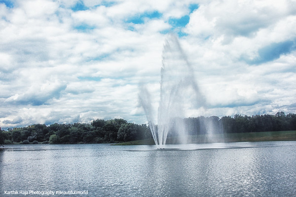 Fountain, Chicago Botanic Garden