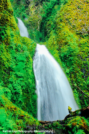 Wahkeena Falls, Benson State Recreation Area, Columbia River Gorge National Scenic Area, Oregon