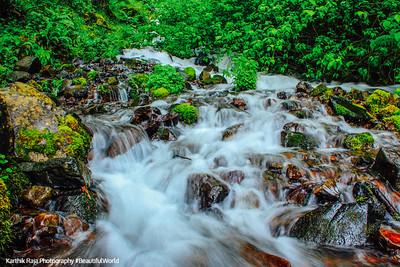 Wahkeena Falls Creek, Columbia River Gorge National Scenic Area, Oregon
