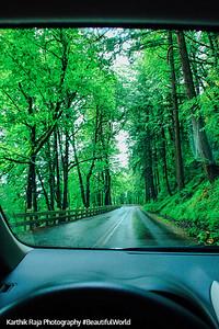 Entering Columbia River Gorge National Scenic Area, Oregon