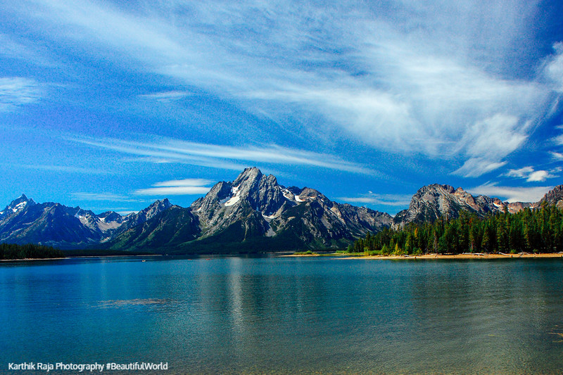 Grand Teton National Park, Grand Teton National Park, Wyoming - Cathedral group of mountains, Jackson Lake