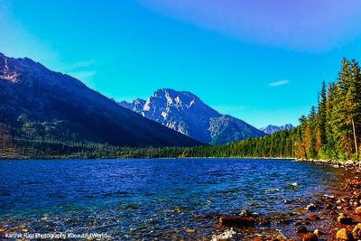 Grand Teton National Park, Wyoming - Mt. Moran (3842m), Jenny Lake Overlook