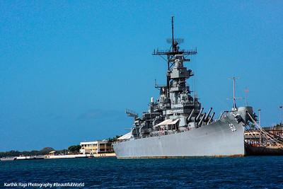 Battleship Missouri, Pearl Harbor, Oahu, Hawaii, USA