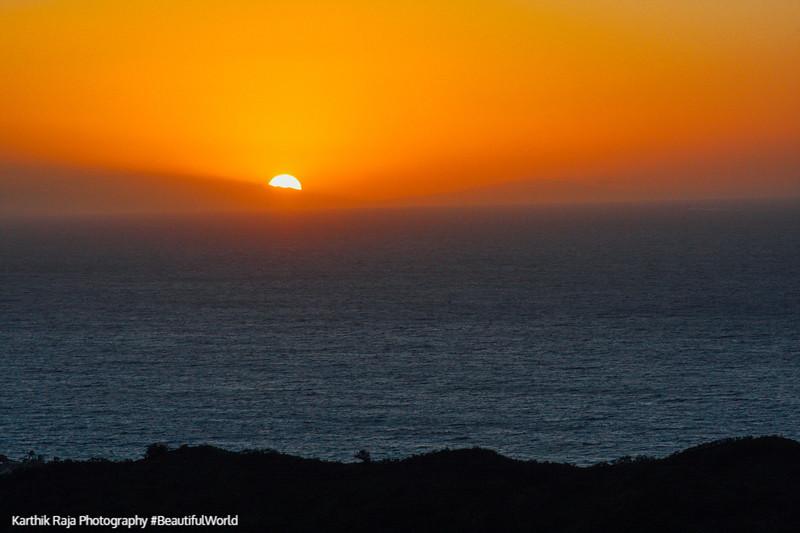 Sunrise from Diamond Head, Oahu, Hawaii, USA