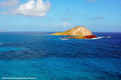 Manana (Rabbit Island) and Kaohikaipu islands, Oahu, Hawaii, USA