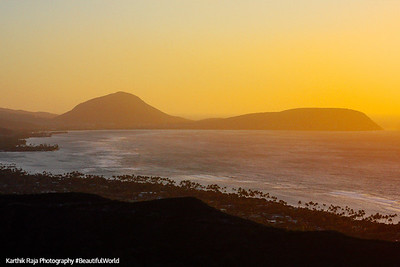 Hanauma Bay in the sunlight, Oahu, Hawaii, USA