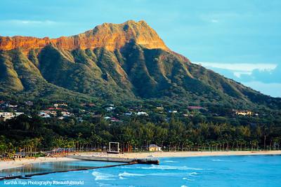Diamond Head Volcano (Le'ahi), Oahu, Hawaii, USA