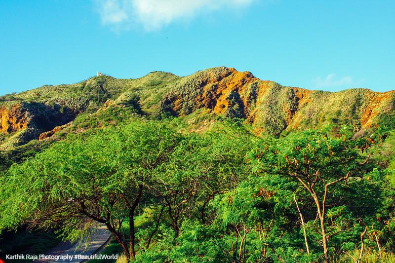 Diamond Head trail, Oahu, Hawaii, USA