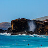 Makapu Point blow hole, Oahu, Hawaii, USA
