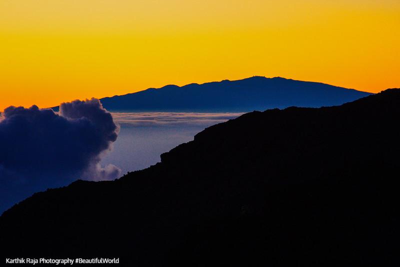 Dawn at 10000 feet, Haleakala National Park, Maui, Hawaii, USA
