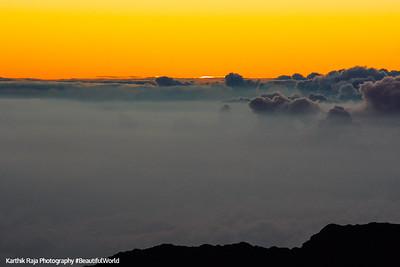 Sunrise, Haleakala National Park, Maui, Hawaii, USA