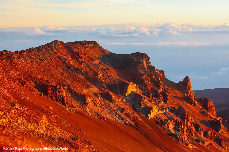 The peak of Haleakala Red Hill - 10023 feet, Haleakala National Park, Maui, Hawaii, USA