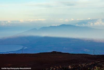 The shadow of Haleakala streches far, Haleakala National Park, Maui, Hawaii, USA