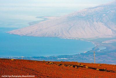 View of the bay on the leeward side,Maui, Hawaii, USA