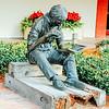 Boy reading book, Harbour town, Hilton Head Island, South Carolina