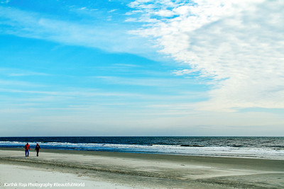 Walk on Coligny beach, Atlantic Ocean, Hilton Head Island, South Carolina