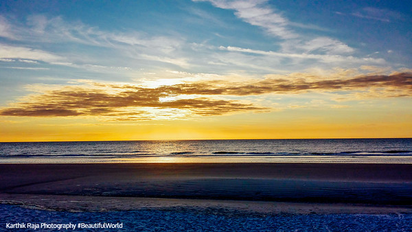 Sunrise, Atlantic Ocean, Coligny beach, Hilton Head Island, South Carolina