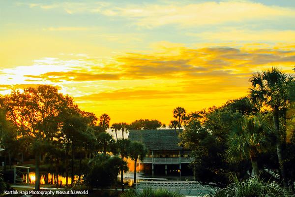Sunrise, Atlantic Ocean, Sonesta Resort, Shipyard Plantation, Hilton Head Island, South Carolina