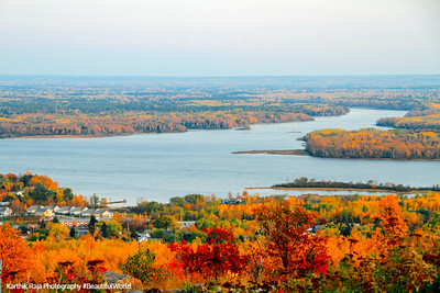 Pokegama Bay, Saint Louis River, view from Thompson Hill, Duluth