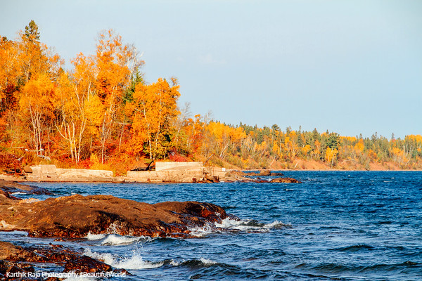 Fall Colors, Lake Superior, North Shore Scenic Drive, Duluth to Two Harbors