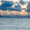 Mackinac City Bridge, Sunset, Lake Huron, Mackinac Island, Michigan