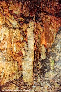Drapery room stalagmite, New Entrance Tour, Mammoth Cave National Park, Kentucky