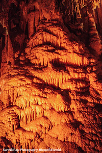 Shadows, Stalactite and Stalagmite formations, New Entrance Tour, Mammoth Cave National Park, Kentucky