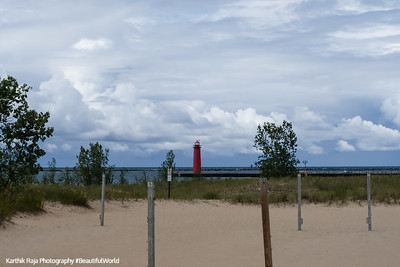 Pere Marquette Park and Beach, Muskegon Lighthouse, Michigan
