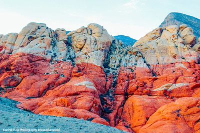 White and Red at Red Rock Canyon, Nevada