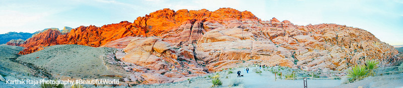 Calico Hills, Red rock canyon panorama, Nevada