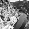 Colorado River flowing away from Hoover Dam, Nevada