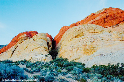 4 colors at Red Rock Canyon, Nevada