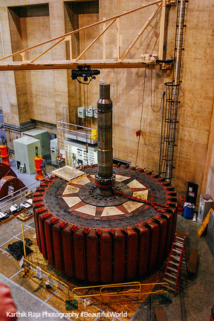 Rotor in maintenance at Hoover Dam, Nevada