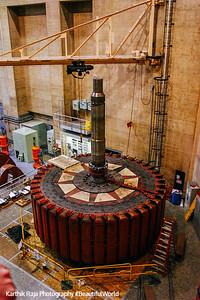 Rotor in maintenance at Hoover Dam, Nevada