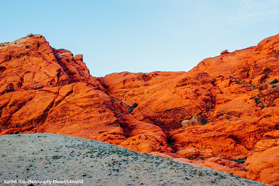 Orange Red ar Red Rock Canyon, Nevada