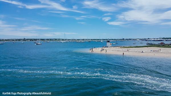 Brant Point Lightbouse, Beach, Nantucket, Cape Cod Islands, Massachusetts