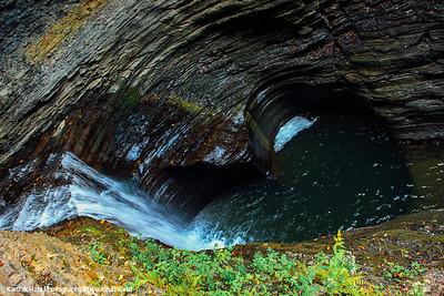 Falling into the heart lagoon, Watkins Glen State Park, NY