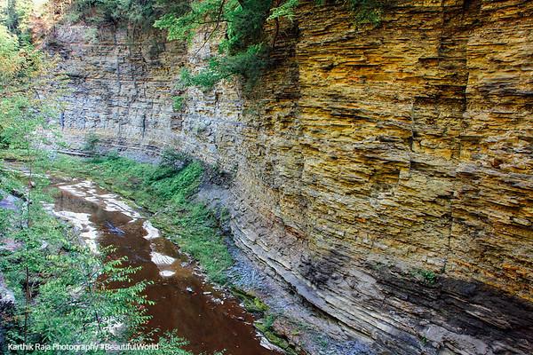 The canyon walls at Glen Cathedral, Watkins Glen State Park, NY