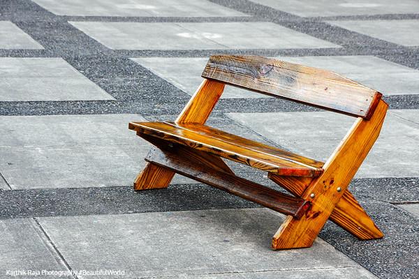 Park bench, Watkins Glen State Park, NY
